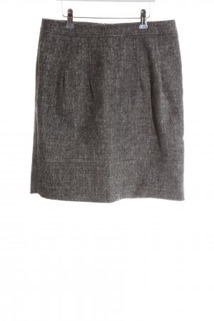 Luisa Cerano Wool Skirt light grey-brown flecked casual look