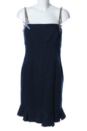 Luisa Spagnoli Vestido corsage azul estilo extravagante
