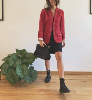 Luisa Spagnoli Designer Blazer Sakko Jacke rot, 100% Leinen