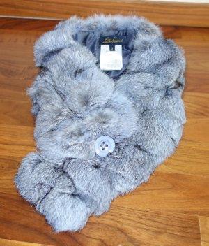 Luisa Spagnoli Scarf azure-light grey pelt