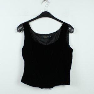 Luisa Spagnoli Corsage topje zwart Gemengd weefsel