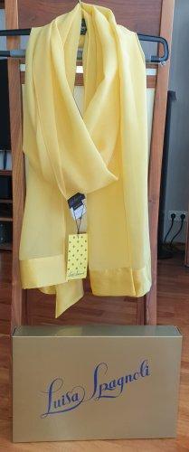 Luisa Spagnoli Silk Scarf yellow silk