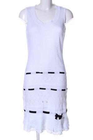 Luisa Spagnoli Strickkleid weiß-schwarz Casual-Look