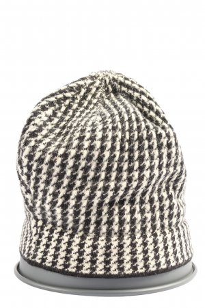 Luisa Spagnoli Knitted Hat black-white allover print casual look