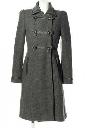 Luisa Spagnoli Wollen jas lichtgrijs gestippeld casual uitstraling