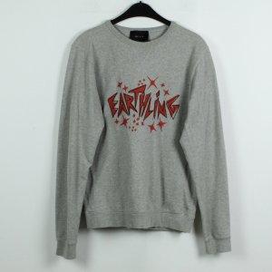 LULU & CO Sweatshirt Gr. S grau rot oversize (19/11/068)