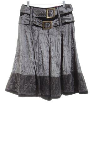 Lulu H Glockenrock schwarz-silberfarben extravaganter Stil