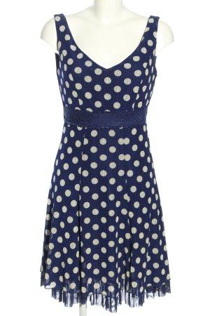 Lulu H Minikleid blau-weiß Allover-Druck Elegant