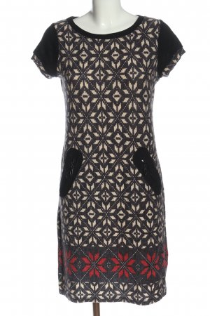 Lulu H. Paris Robe pull noir-blanc cassé imprimé allover style décontracté