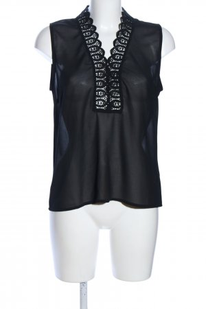 LULUMARY ärmellose Bluse schwarz Elegant