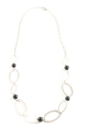Lumani Halskette silberfarben-schwarz Casual-Look