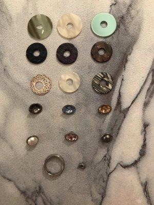 Lumani Ring-Schmuck Set, zahlreiche Kombinationsmöglichkeiten, 17 Teile, Ringgröße 50/52 Edelstahl, insgesamter Wert 259€