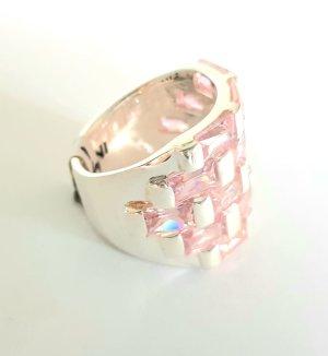 Lumani Silber Ring XL - Rosa Zikonia - Gr 58 - NEU - 925er Sterlingsilber