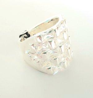 Lumani Silber Ring XL - Weiß Zikonia - Gr 60 - NEU - 925er Sterlingsilber