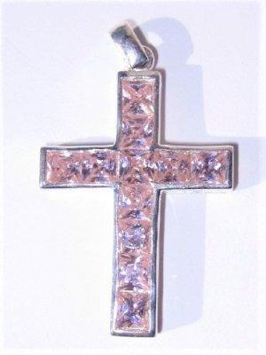 Lumani Silberanhänger Kreuz Rosa Zirkonia - NEU