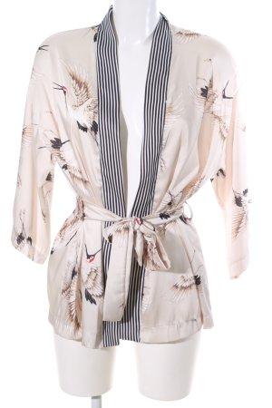 Lumina Kimono cream abstract pattern elegant