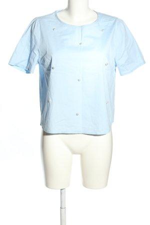 Lumina Schlupf-Bluse blau Casual-Look