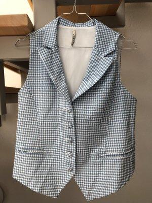 Lumina Omkeerbaar vest wit-korenblauw Polyester