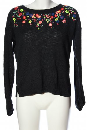 Luperdry Crochet Sweater allover print casual look