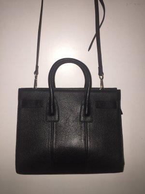 Lush Leder Schultertasche schwarz