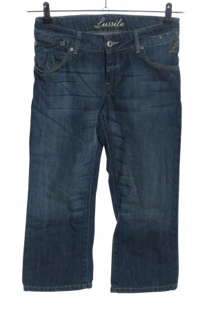 Lussile 3/4-jeans blauw casual uitstraling