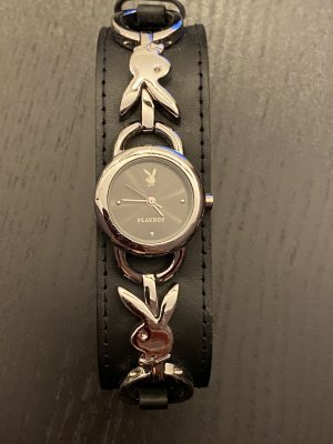Playboy Analog Watch black-silver-colored