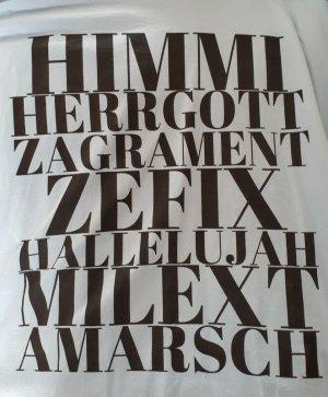 Lustiges T-Shirt 3XL Herren Damen Bayerisches Fluchen Hellblau
