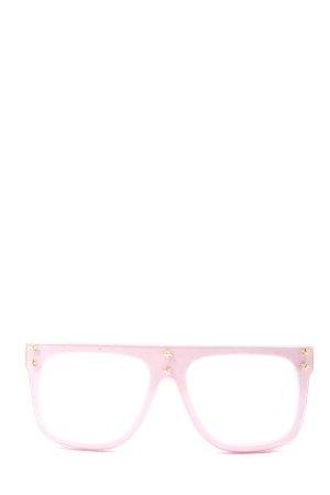 LUX. Gafas rosa look casual