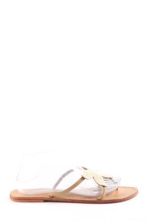 LUX. Sandały japonki kremowy W stylu casual
