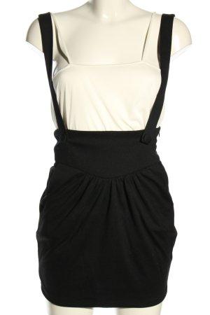 LUX. Overgooier overall rok zwart zakelijke stijl
