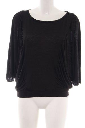 LUX. T-Shirt schwarz Casual-Look