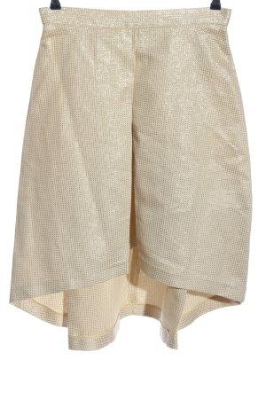 Luxe Asymetryczna spódniczka kremowy-złoto Siateczkowy wzór Elegancki