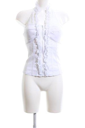 Luxe Corsagen Top weiß extravaganter Stil