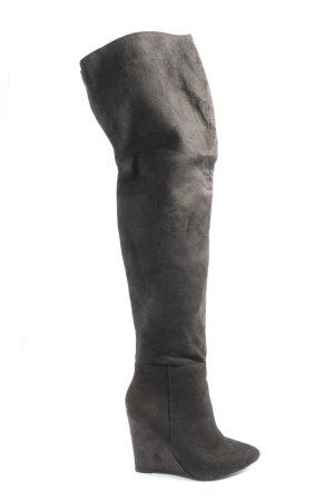 Luxe Botas sobre la rodilla marrón look casual