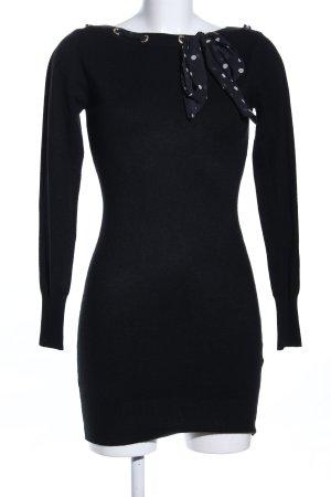 Gebreide jurk zwart casual uitstraling