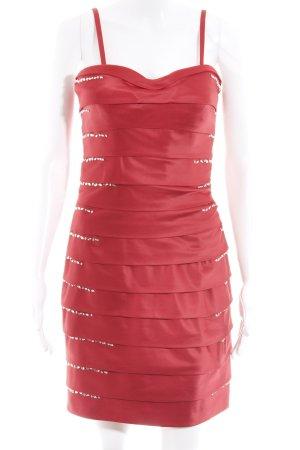Luxuar Limited Abendkleid ziegelrot Glanz-Optik