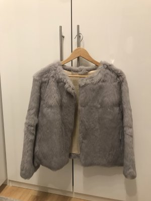 Pelt Jacket light grey-gold-colored pelt