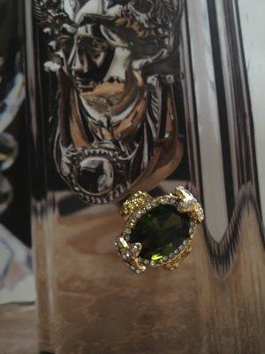 Srebrny pierścionek złoto