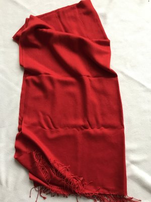 Écharpe en cachemire rouge