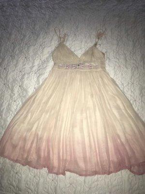 Robe Babydoll crème-rose clair