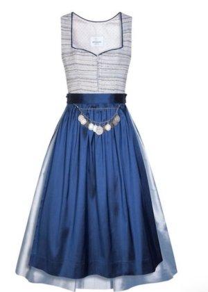 silk & pearls Dirndl blu-argento