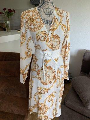 Kimono sweater wit-goud