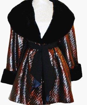 Manteau de fourrure multicolore pelage