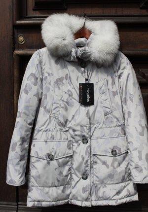 Woolrich Chaqueta de plumón color plata-gris claro