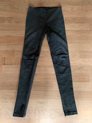 Balenciaga Pantalón de cuero gris antracita Cuero