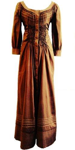 Alberta Ferretti Maxi-jurk bruin Katoen