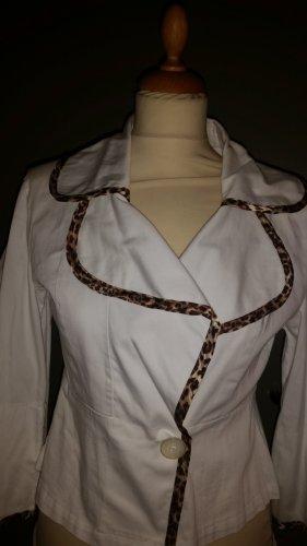 Marchesa Short Blazer white cotton
