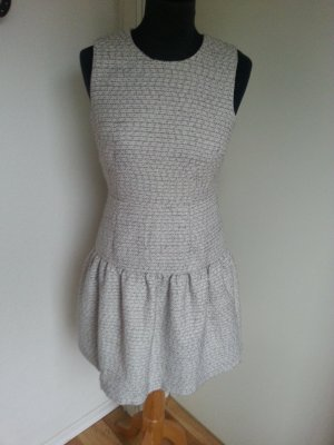 Luxus Bouclé Kleid - Traffic People - Volant Preppy - ungetragen