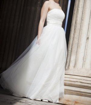 Luxus Brautkleid Gr. 36/38 Ivory Elizabeth Passion Romantisch Schulterfrei Netz
