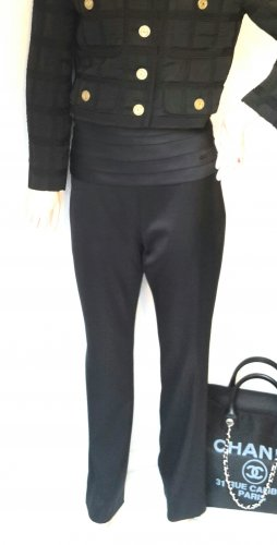 Chanel High Waist Trousers black silk